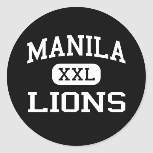 Manila - Lions - High School - Manila Arkansas Round Sticker