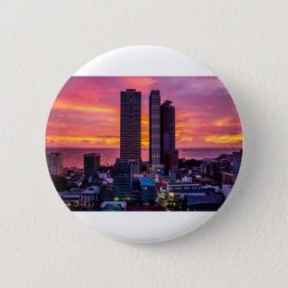 Manila Philippines Skyline 6 Cm Round Badge