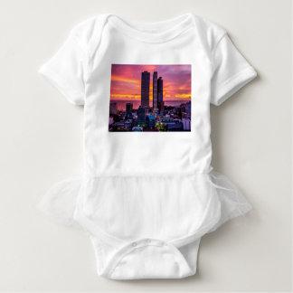Manila Philippines Skyline Baby Bodysuit