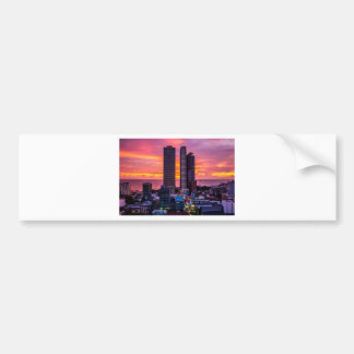 Manila Philippines Skyline Bumper Sticker