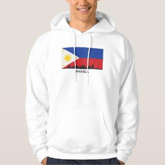 Manila Philippines Skyline Filipino Flag Hoodie