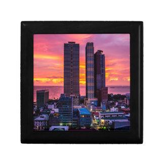 Manila Philippines Skyline Gift Box