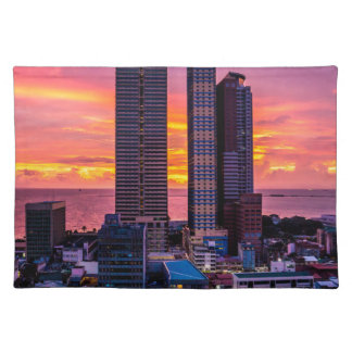 Manila Philippines Skyline Placemat