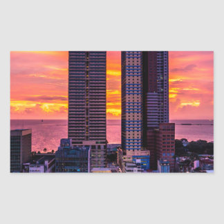 Manila Philippines Skyline Rectangular Sticker