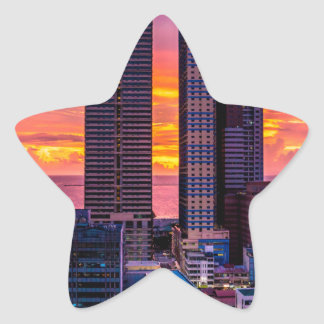 Manila Philippines Skyline Star Sticker