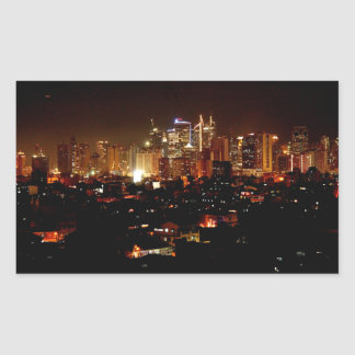 Manila Rectangular Sticker