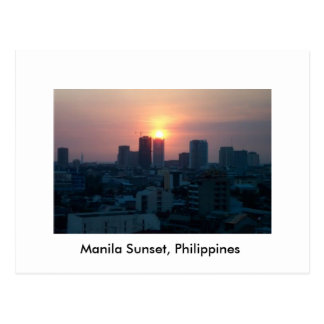 Manila Sunset, Philippines - Postcard