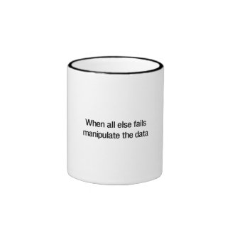 Manipulate the Data Ringer Coffee Mug