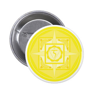 Manipura Chakra Mandala solar plexus Chakra Pinback Buttons
