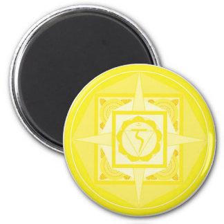 Manipura Chakra Mandala (solar plexus Chakra) Refrigerator Magnet