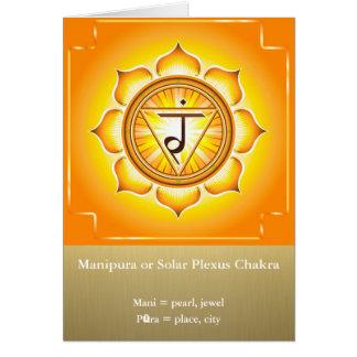 Manipura or Solar Plexus Chakra Greeting Card
