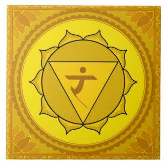 Manipura or Solar Plexus Chakra Large Square Tile