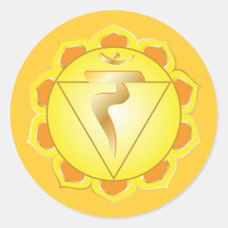 manipura or solar plexus chakra Sticker