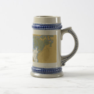 Manistee Michigan Nautical Harbor Chart Mug