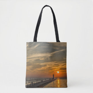 Manistee North Pierhead Lighthouse in Michigan Tote Bag
