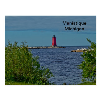 Manistique Breakwater Light Postcard