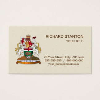 Manitoba coat of arms business card