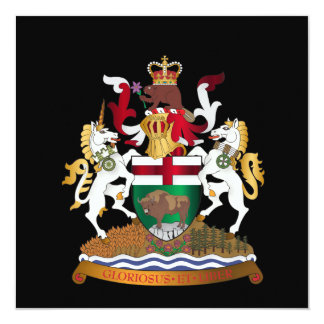 Manitoba coat of arms card