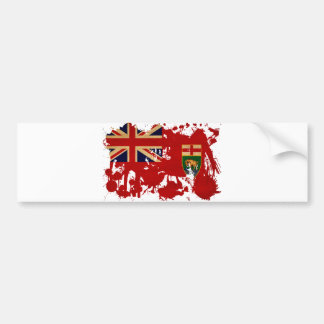 Manitoba Flag Bumper Sticker