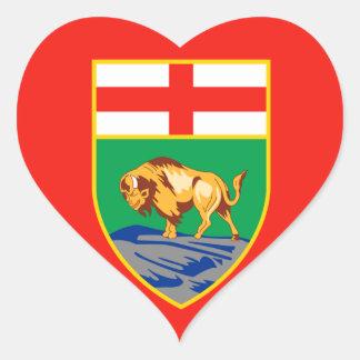 MANITOBA Flag Heart Sticker