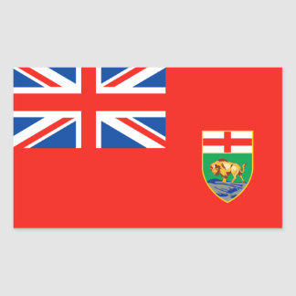 MANITOBA Flag Rectangular Sticker