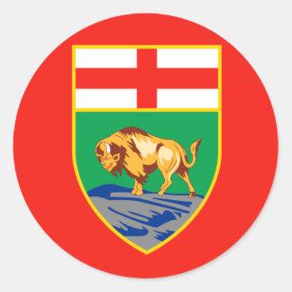 MANITOBA Flag Round Sticker