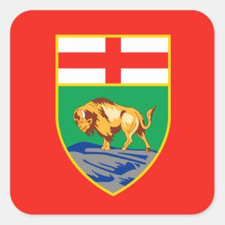 MANITOBA Flag Square Sticker
