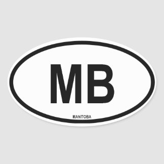 "Manitoba ""MB"" Oval Sticker"