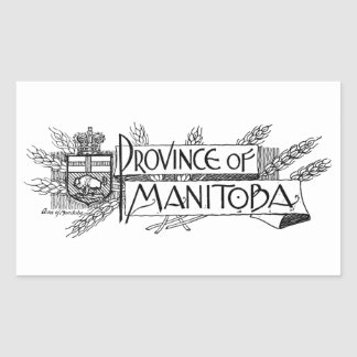 Manitoba Vintage Coat of Arms Rectangular Sticker