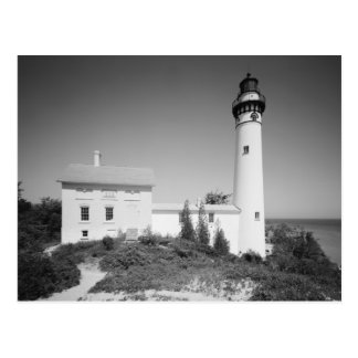 Manitou Island Lighthouse Postcard