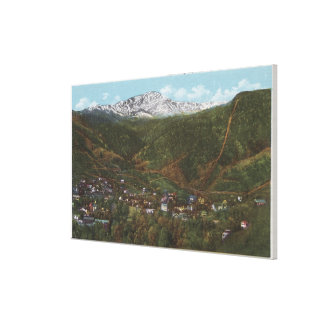 Manitou Springs, CO - The Spa of the Rockies Canvas Print