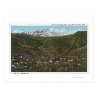 Manitou Springs, CO - The Spa of the Rockies Postcard
