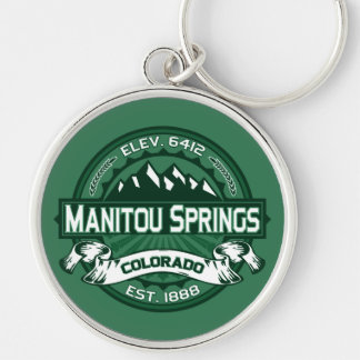 "Manitou Springs ""Colorado Green"" Logo Key Ring"