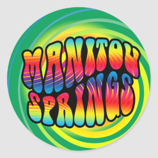 Manitou Springs Hippy Trippy Sticker