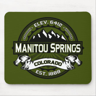 Manitou Springs Logo Olive Mouse Pad