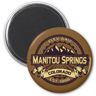 Manitou Springs Logo Sepia Magnet