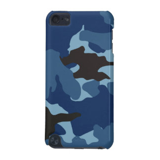 Manly Blue Camo Military Camouflage Pattern Tough iPod Touch (5th Generation) Case