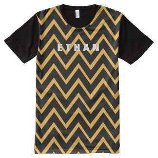 Manly Chevron Zig Zag Custom Color A10 All-Over Print T-Shirt