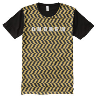 Manly Houndstooth Zig Zag Custom Color A02 All-Over Print T-Shirt