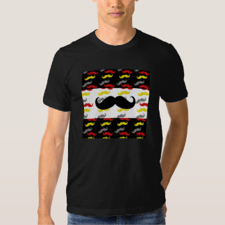 Manly Mustache Hair Colors T-shirts