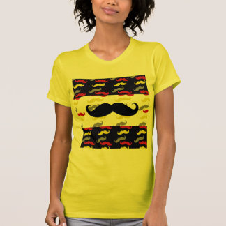 Manly Mustache Hair Colors Tshirts