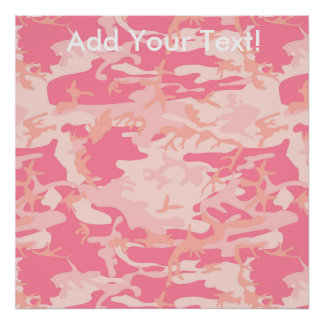 Manly Pink Camo Poster