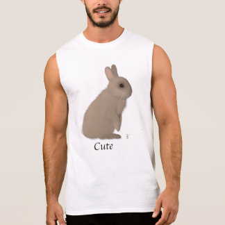 Manly Rabbit Sleeveless Shirt