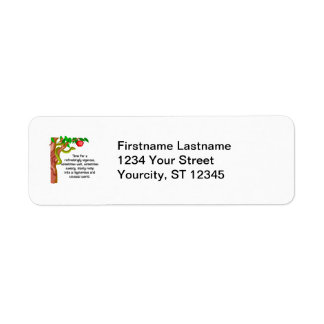 Manly Romp Return Address Label