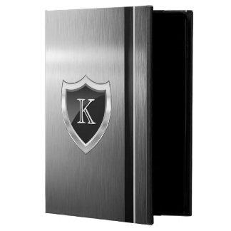 Manly Shield Monogram -Brush Metal Stainless Steel Powis iPad Air 2 Case