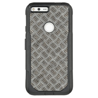 Manly Textured Silver Metal OtterBox Commuter Google Pixel XL Case
