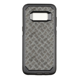 Manly Textured Silver Metal OtterBox Commuter Samsung Galaxy S8 Case