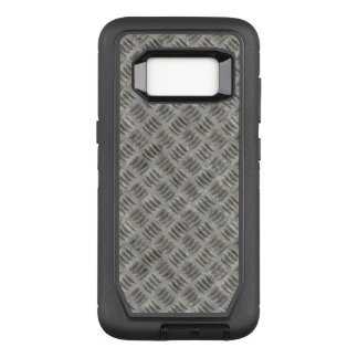 Manly Textured Silver Metal OtterBox Defender Samsung Galaxy S8 Case