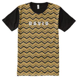 Manly Tribal Chevron Zig Zag Custom Color A09 All-Over Print T-Shirt