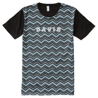 Manly Tribal Chevron Zig Zag Custom Color A16 All-Over Print T-Shirt